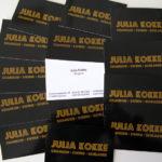 Visitenkarte Julia Kokke Sängerin