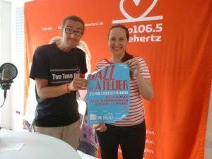 Carsten Steckel und Julia Kokke - Vorankündigung Jazz im Atelier auf Radio Leinehertz